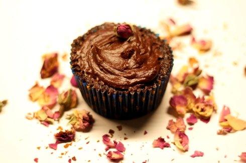Chokladcupcakes med chokladganache